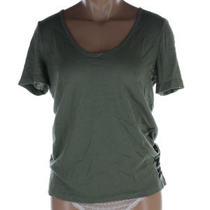 Pink Victoria's Secret green tee shirt top NWT
